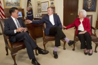 Moment of Swank: George H.W. Bush Endorses Mitt Romney