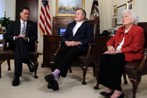 George Bush Purple Socks