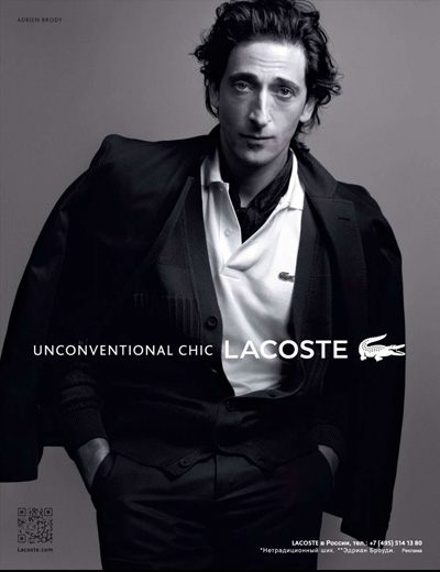 Lacoste Spring Summer 2012 Campaign Adrien Brody
