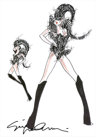 Lady Gaga Giorgio Armani Concert Costume Born this Way
