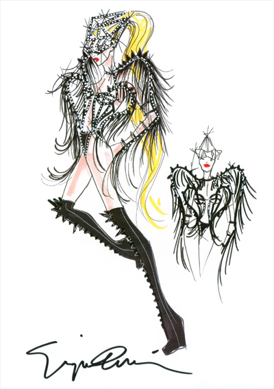 Lady Gaga Giorgio Armani Concert Costume Born This way 2