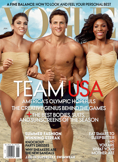 Serena Williams Hope Solo Ryan Lochte Vogue Olympics