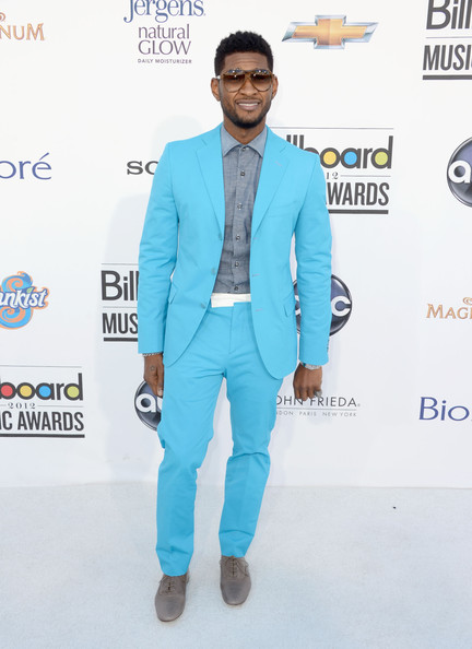 Usher Fashion #BBMA Bright Suit Music