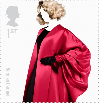Norman Hartnell Stamp British Fashion