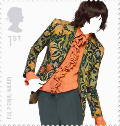 Granny Takes a Trip British Fashion Stamp