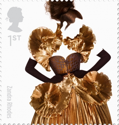 Zandra Rhodes British Fashion Stamp