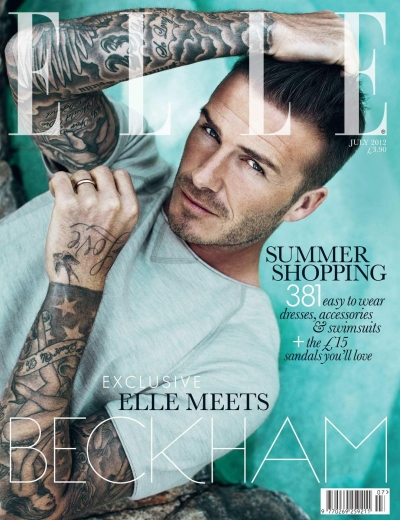 David Beckham Elle UK July 2012 Cover 2