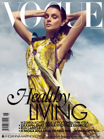 Jessica Stam Model Pics Vogue Hellas Greece Fashion