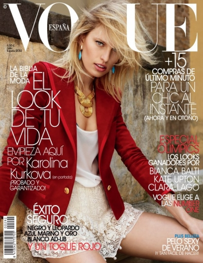 Karolina Kurkova Vogue Spain Cover Fashion