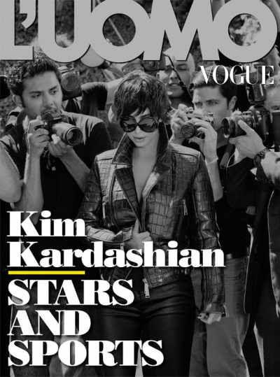 Kim Kardashian Luomo Magazine Cover Fashion