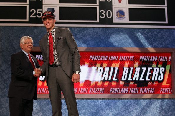 nba draft 2012 meyers leonard photos