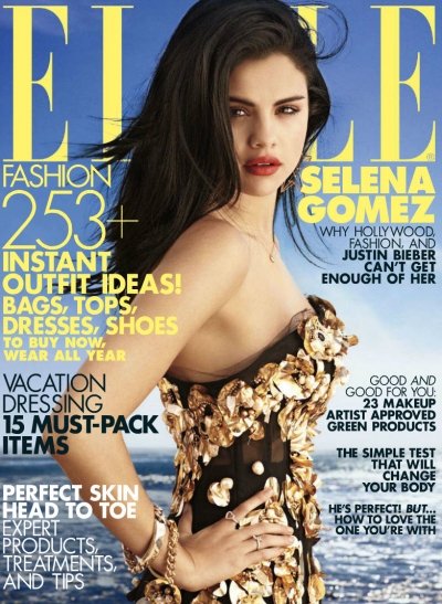 Selena Gomez Cover Elle Fashion Bieber