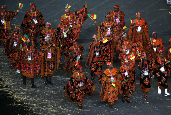 2012 London Olympics Opening Ceremony Cameroon Uniforms