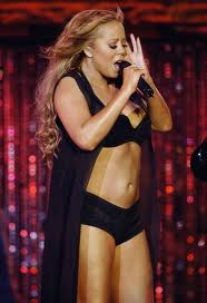 mariah carey singing bikini american idol fashion