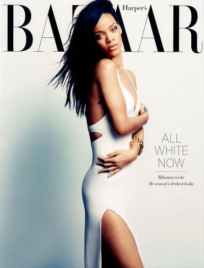 Rihanna Harper's Bazaar August 2012 celeb Cover fashion