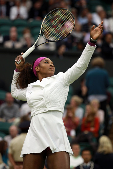 serena williams wimbledon fashion white jacket 2012