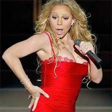 mariah Carey singing red dress american idol