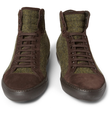Armando Cabral High Top Sneakers MR Porter Brown Shoes Fashion