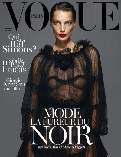 Daria Werbowy Vogue Paris Cover September ISsue 2012 FAshion