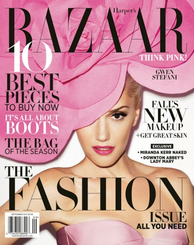 Gwen Stefani Harpers Bazaar September Issue Cover Fashion 2012