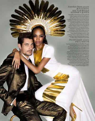 Jourdan Dunn David Gandy Midas Touch Vogue September 2012 Fashion