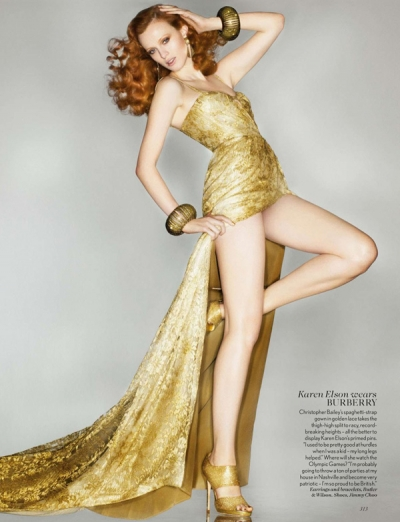 Karen Elson Midas Touch Vogue September 2012 Fashion Magazine
