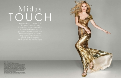 Kate Moss  Nick Knight Midas Touch Vogue September 2012 Fashion