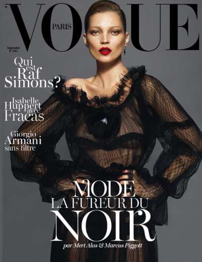 Kate Moss Vogue Paris Cover September Issue 2012 Fashion