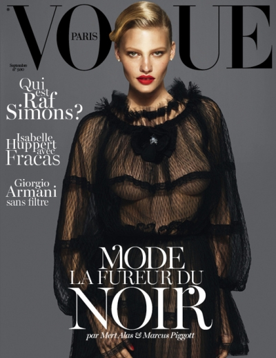 Lara Stone Vogue Paris Cover September Issue 2012 Fashion