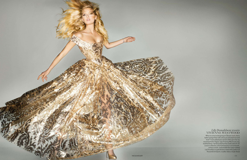 Lily Donaldson Midas Touch Vogue September 2012 Fashion