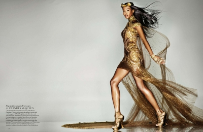 Naomi Campbell Nick Knight Midas Touch Vogue September 2012 Fashion