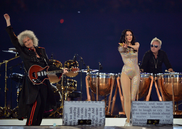 Olympics Closing Ceremony Brian May Jessie J Queen Fashion