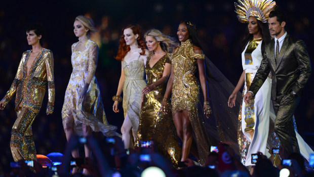 Olympics Closing Ceremony Naomi Campbell Kate Moss Jourdan Dunn Victoria Beckham Paul Smith McQueen Burberry Vivienne Westwood