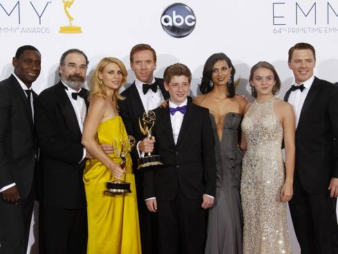 Homeland Cast 2012 Emmys Clare Danes awards gowns