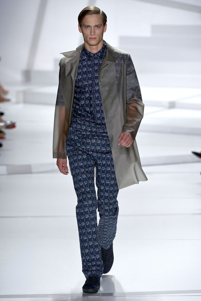 Lacoste clear trench coat spring 2013 collection fashion menswear