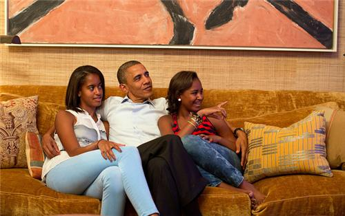 Malia Obama Sasha Obama Fashion DNC Jeans