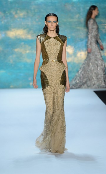 Monique Lhuillier Spring 2013 Collection Runway Fashion NYFW MBFW