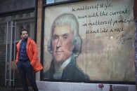 Matters of Style: Jefferson Quotes Styled in Orange and Blue