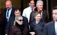 Moment of Swank: Bill Clinton Escorts Hillary Clinton From Hospital