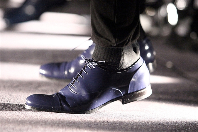 mr hare shoes, purple, cap toe, london, lcm, fashion, menswear, mens shoes