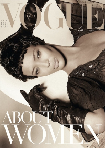 vogue italy, magazine, model, naomi campbell photos, images, steven meisel, conde nast, february 2013