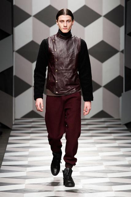 fashion, menswear, oxblood, leather, runway, mens fashion