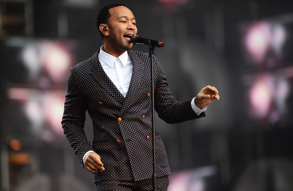 gucci suit, gucci polka dot, john legend london concert, style, menswear