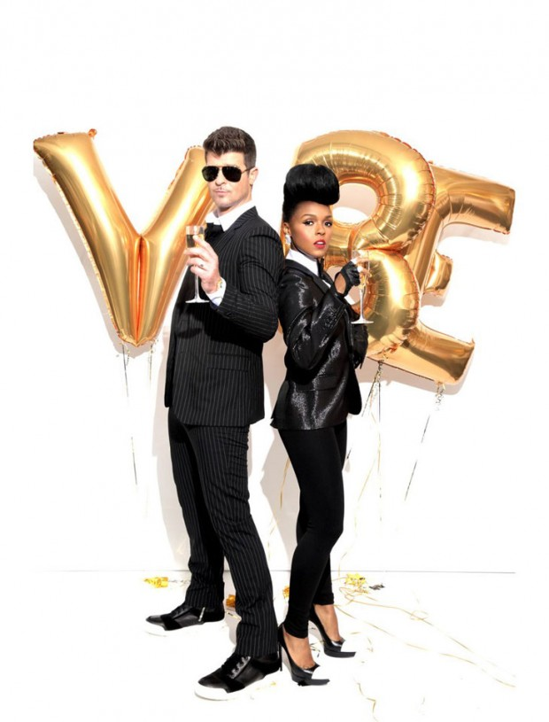 2013, magazine covers, janelle monae, robin thicke magazine cover