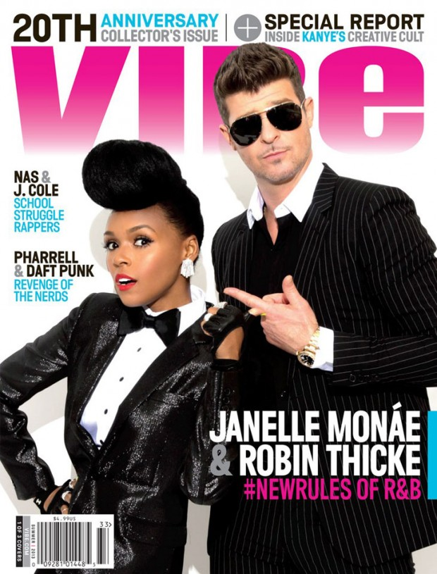 vibe, blurred lines, janelle monae covers, vibe cover, 2013, music