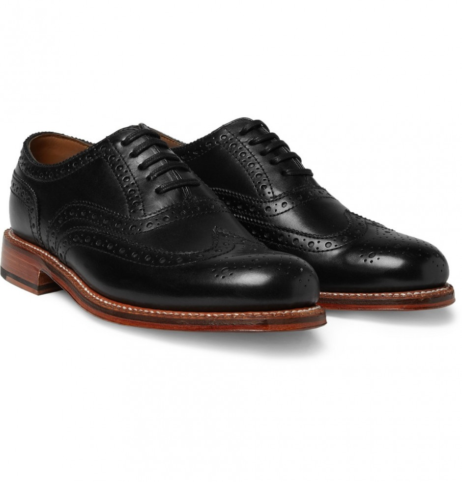 Grenson Angus Leather Wingtip Brogues, $405