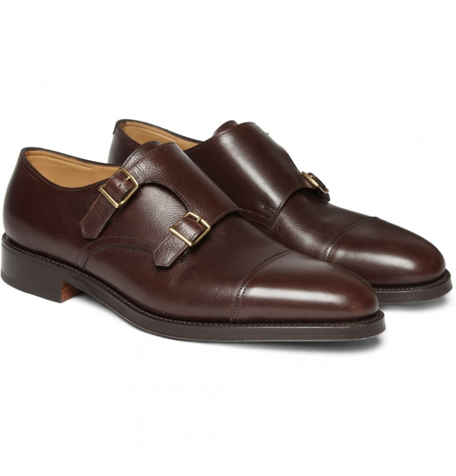 John Lobb William Leather Monkstraps, 1,175