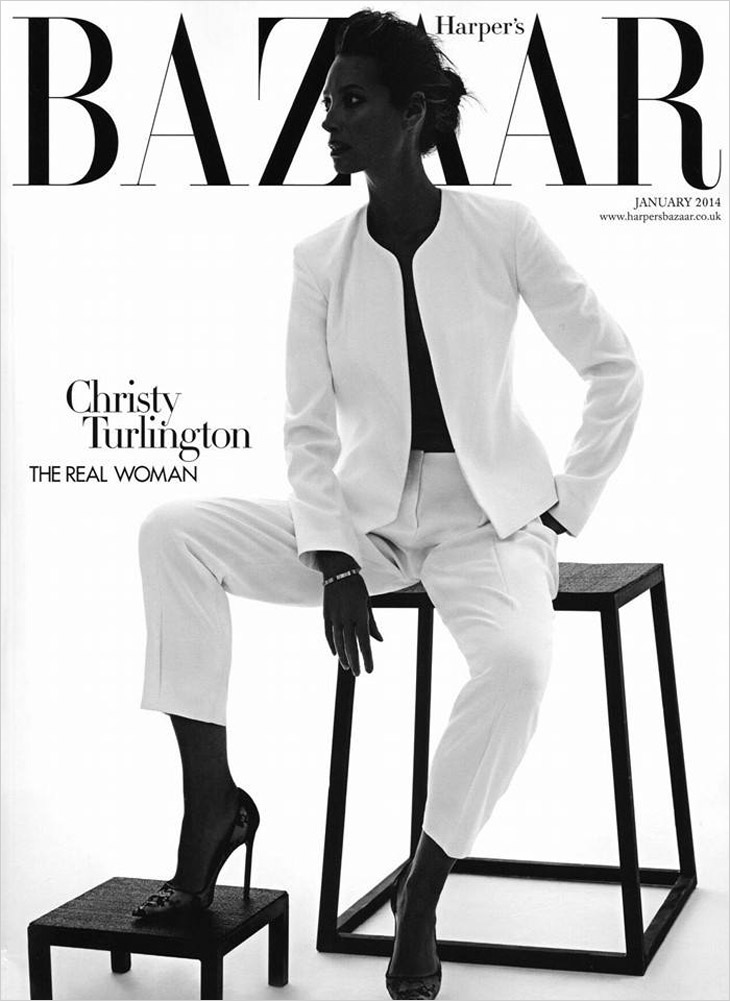 Christy Turlington new photos supermodel harpers bazaar magazine cover