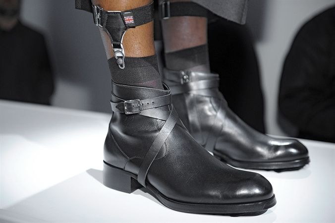 mr hare fall 2014, lcm, mr hare shoes, black monkstraps, monkstrap boots,