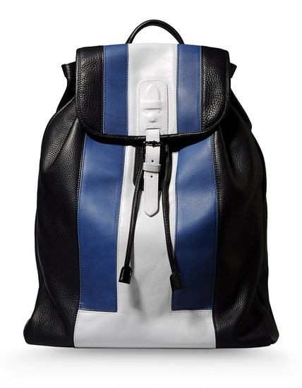 mens bags, south africa fashion, neil barrett, blue and white bag, ss14, man bag, menswear, fashion, style, backpack, book bags, bookbag